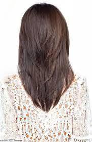 v cut with layers on medium hair