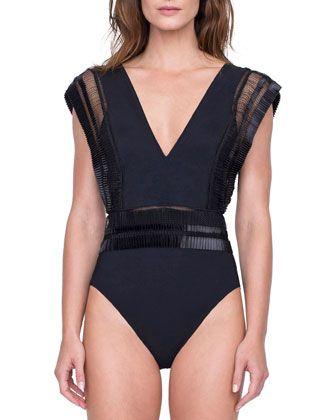 f2128a12e2a Gottex Aura Deep V One-Piece Swimsuit in 2019 | Calzonetas | One ...