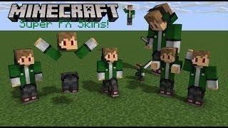 Minecraft Bedrock Edition Super Fx Skins Pack Minecraft Minecraft Skins Mini Games