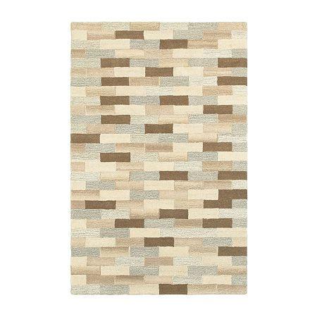 Covington Home Inala Bricks Hand Tufted Rectangular Indoor Rugs Casual Rug Geometric Area Rug Oriental Weavers