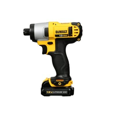 Dewalt 12 Volt Max Lithium Ion Cordless 1 4 In Impact Driver Kit With 2 Batteries 1 5ah Charger And Contractor Bag Dcf815s2 The Home Dep Impact Driver Home Depot Charger
