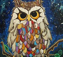 Look into my eyes and I will tell you a story. Original Little Owl painting A Magical owl in acrylic painted on canvas with his own original story and charactor large 30 X via Etsy.