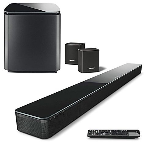 Bose Soundtouch 300 Soundbar Bundle With Wireless Acousti Bose Home Theater Home Theater Sound Bar Home Theater
