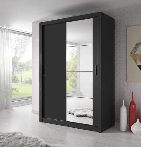 Idea Id 10 Chest Of Drawers In Black Sliding Wardrobe Sliding Wardrobe Doors Home Decor