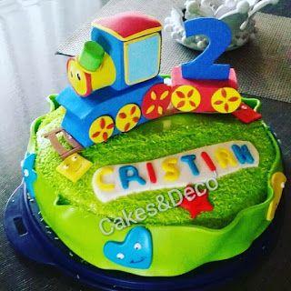 Cakes Deco Tanti Auguri Al Piccolo Cristian Per I Suoi 2 Anni Decorare Torte Cakes Torte