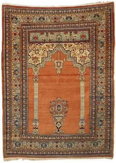 Tabriz Prayer Rug Persia Ca 1900 6 Ft X 4 Ft 5 May 05 2019 Grogan Company In Ma Persian Rug Designs Rugs On Carpet Prayer Rug