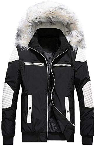 Big Daoroka Mens Autumn Winter Hoodie Coat Jacket Zipper Pocket Thcik Warm Fashion Solid Overcoat Outwear Parka