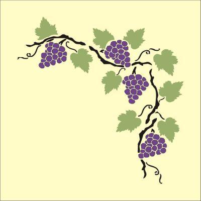 Grapevine Border Clipart Best Grape Vines Art Grapes