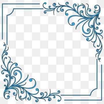 Border Frame Png Vector Psd And Clipart With Transparent Background For Free Download Pngtree Blue Flowers Background Clip Art Borders Frame Template