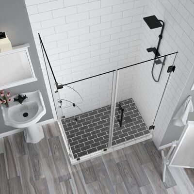 Aston Bromley Gs 30 X 72 Rectangle Hinged Shower Enclosure Corner Shower Enclosures Shower Enclosure Shower Doors