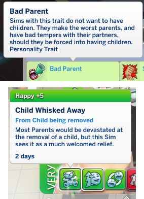 Mod The Sims: Bad Parent Trait by Zuperbuu • Sims 4 Downloads | SIMS
