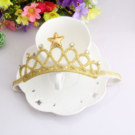 Girls Hairbands Head Accessories Baby Princess Queen Rhinestone Tiara Headbands