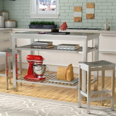 August Grove Eaglin Kitchen Island Set Reviews Wayfair Kitchen Island With Seating Stools For Kitchen Island Ikea Kitchen Island