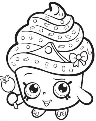صور رسومات اطفال للتلوين سهلة وبسيطة وغير ملونة للطباعة للحضانة والبيت Shopkin Coloring Pages Shopkins Colouring Pages Cupcake Coloring Pages