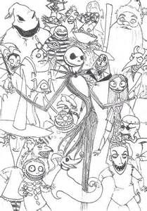 Extraordinary Nightmare Before Christmas Coloring Page