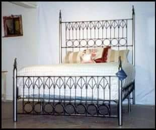 This Listing Is For One Queen Size Mockingbird Iron Bed Frame Super Gothic And Sturdy Headboard Is 68 Tall Foo