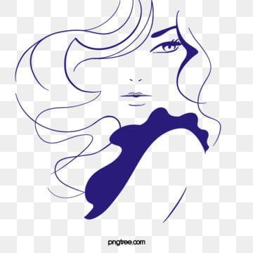 Blue Curly Hair Long Hair Woman Lips Eyelash Cartoon Hand Painted Eyebrow Hand Clipart Lips Clipart Cartoo Beauty Salon Logo How To Draw Hands Cartoon Clip Art