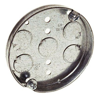 Hubbell Raco 8293 1 2 Inch Deep 1 2 Inch Bottom Knockouts 4 Inch Round Ceiling Pan Conduit Fittings Ama Metal Ceiling Recessed Can Lights Corrugated Metal