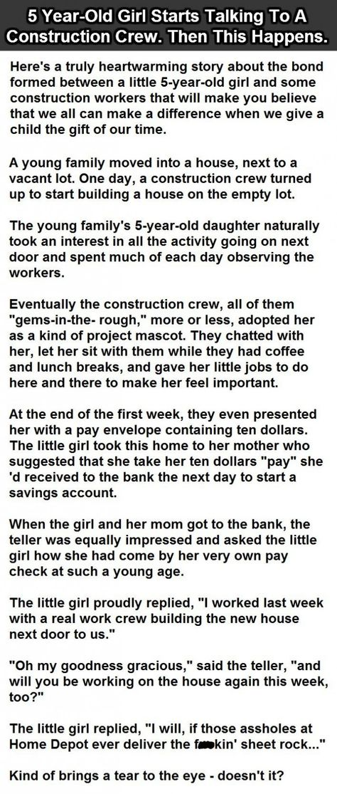 YearOld Girl Starts Talking To A Construction Crew Then This