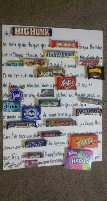 Birthday ideas for boyfriend activities candy bars 37 ideas