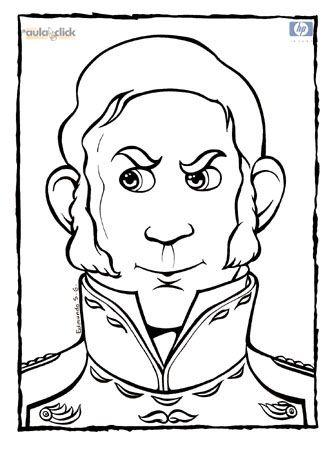 Dibujo de Simn Bolvar El Libertador  Simon Bolivar en el