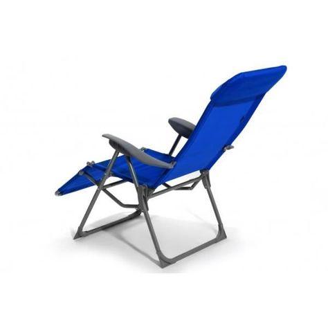 chaise pliable pour jardin piscine plage sunshine bleu