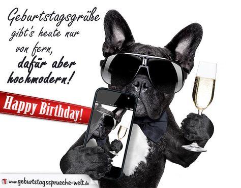 Geburtstagsgrusse Hochmodern Mit Hund Geburtstagskarten
