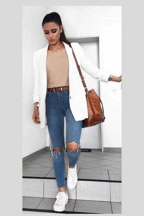 Tábata Bueno: 10 looks with white blazer to get inspired - ., Tábata Bueno: 10 looks with white blazer to get inspired - Blazer Outfits Casual, Blazer Fashion, Fashion Outfits, Outfits With White Blazer, Semi Casual Outfit Women, Semi Formal Outfits For Women, Dress Outfits, Legging Outfits, Womens Fashion