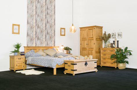 Woskowane Meble Do Sypialni Z Kolekcji Cera Sy Pine Furniture