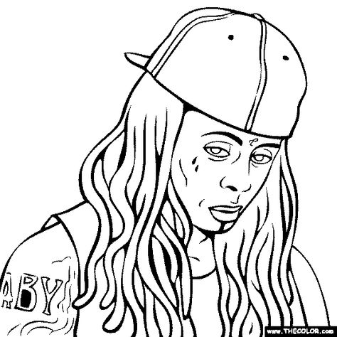 Lil Wayne Coloring Page Star