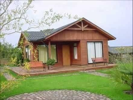 Resultado De Imagen Para Casas De Campo Sencillas Y Frescas Al Aire Libre Cocinaspequenasrusticas Prefab Homes House Log Homes