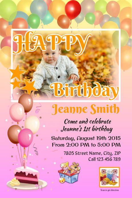 Printable Birthday Party Invitation Card Pink Birthday Party Invitations Printable Printable Birthday Invitations Free Birthday Invitation Templates