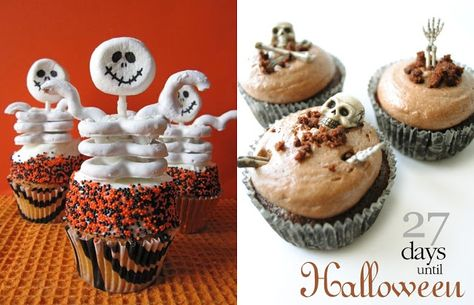Easy Halloween food ideas - scary cupcakes