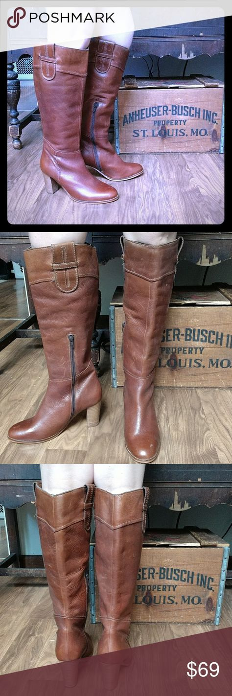 f1c72a9a3fd Leather Knee-High Boots by Diba True NWOT Brown Leather Heeled Boots. Never  been