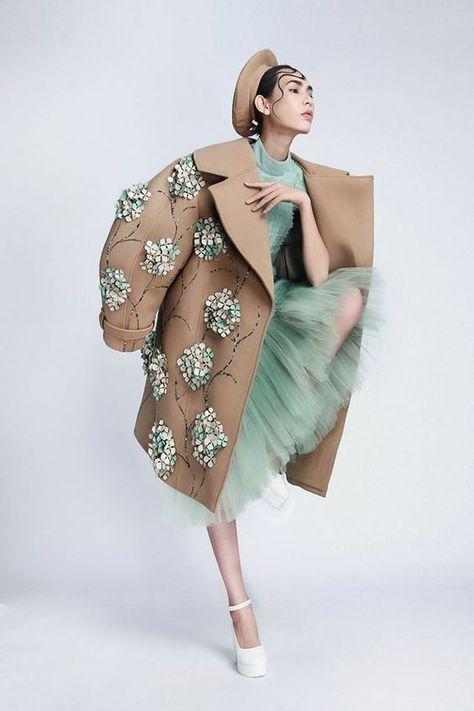 Couture coat design deco ...