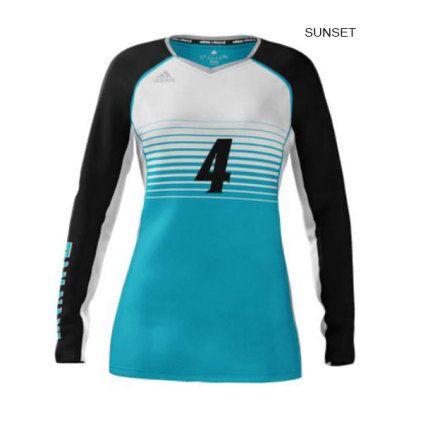Adidas Women S Mi Team Custom Sublimated Long Sleeve Jersey Volleyball Shirt Designs Volleyball Jerseys Adidas Women