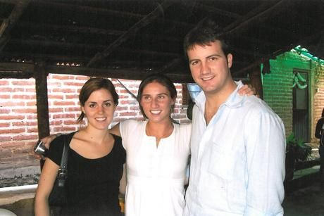 Michael Kennedy Jr with his sisters, Kyle and Rory