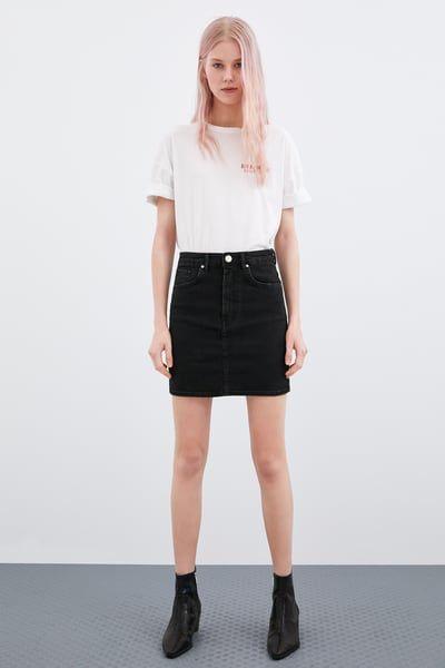 Image 1 De Mini Jupe En Jean De Zara Jupe En Jean Jupe Mini Jupe