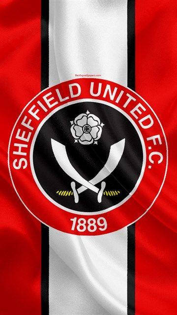 Sheffield United FC, silk flag, emblem, logo, 4k, Sheffield, South Yorkshire, UK, English football club, Football League Championship, Second League, football