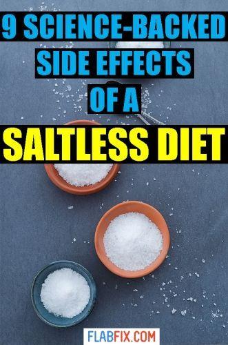 salt free diet side effects