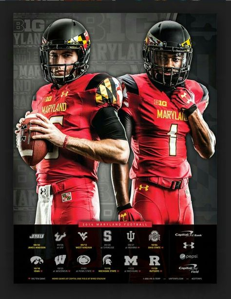Maryland Terrapins Football Team Poster Maryland Terrapins Football Football Sports Uniforms
