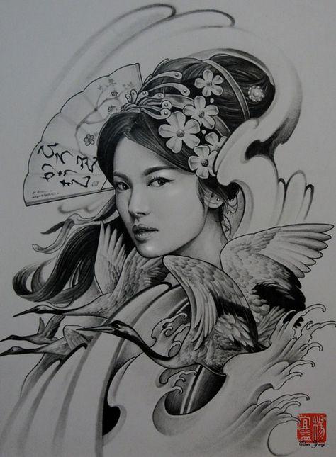 Com Imagens Gueixa Tatuagens Asiaticas