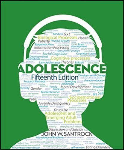 Adolescence 15th Edition Santrock ISBN 978-0-07-803548-7 | Textbook