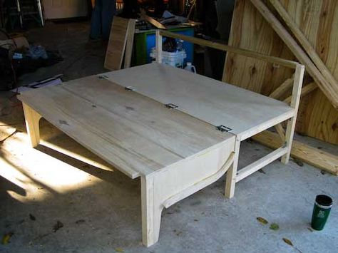This would make a great conversion bed in the travel trailer as an extra seat/bed or instead of the bench table conversion. Ideal in a van or even as extra sleeping space in an office.