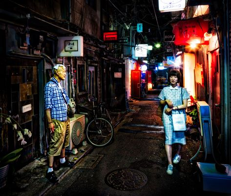 A scene from around midnight in an area near Shinjuku called Golden Gai. There are about 50 tiny bars that only hold 5-10 people each packed into three tight alleyways. Not a ton of people know about it, but it's a great place to hang out and a great place for photography! #TreyRatcliff #HDR #Streetphotography #Night #Japan #Tokyo