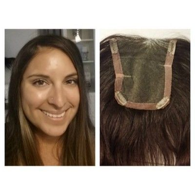 Human hair topper designed by Compassionate Creations. Design your very own  topper to disguise thinning hair!  3f7f5cb82