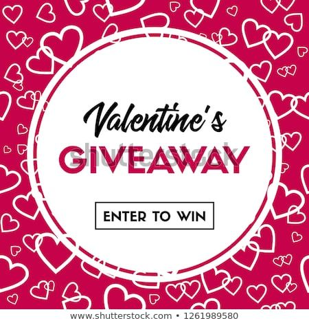 Valentine S Giveaway Card Enter To Win Vector Banner Template For Holiday Contest Valentines Giveaways Online Valentines Valentines Cards