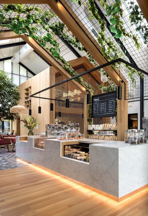 Boutique Coffee Roaster Coperaco& First Cafe Holds a Modern Tree House - Ph. Boutique Coffee Roaster Coperaco& First Cafe Holds a Modern Tree House - Photo 5 of 6 - Restaurant Interior Design, Room Interior Design, Tree Interior, Kitchen Interior, Bathroom Interior, Bar Interior, Interior Ideas, Coffee Cafe Interior, Interior Inspiration