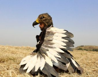 Photo of Bald Eagle Costume Set / Mask and flappable wings / Kids eagle costume / Adult eagle costume / Fly l