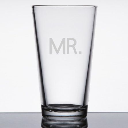 Mr And Mrs Beer Glass Mr And Mrs Pint Glass Mr And Mrs Wedding